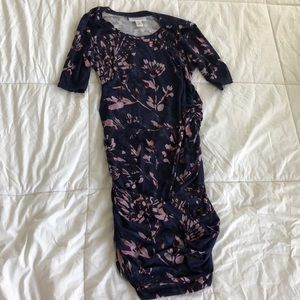 Motherhood Maternity Fitted Floral Dress